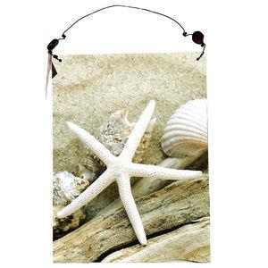 ♛5/$25♛ NWT Starfish Summer Beach Sign Seashell